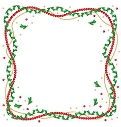 fir branch frame vector image