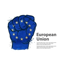 Fist flag european union europe vector