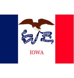 Flag iowa usa vector