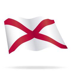Flying alabama al state flag vector