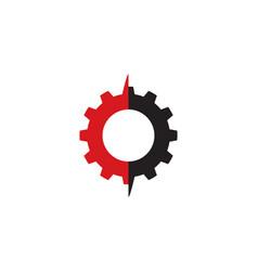 gear system logo vector image