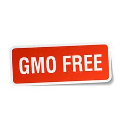 Gmo free square sticker on white vector