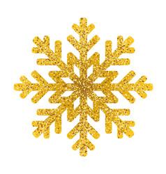 Gold snowflake icon on white background vector