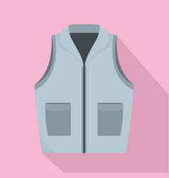 grey vest icon flat style vector image
