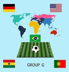Group G - Germany Portugal Ghana USA vector image
