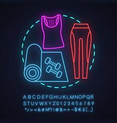 Gym neon light concept icon vector