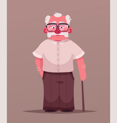happy grandpa cartoon vector image