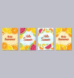 hello summer templates a6 size vector image