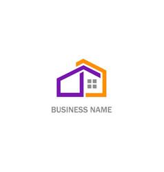 Home building architect logo vector