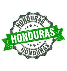 Honduras round ribbon seal vector