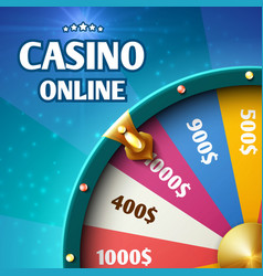 internet casino marketing background with vector image