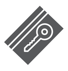 key card glyph icon hotel and access electronic vector image