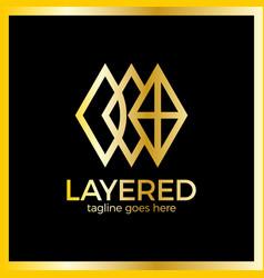 layer app logo vector image
