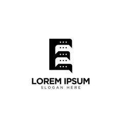 Letter e chat logo design communication logo vector