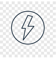 lightning concept linear icon isolated on vector image
