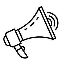 Loud megaphone icon outline style vector