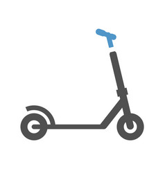 Micro scooter icon vector
