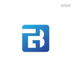 Monogram initial b b logo template black color vector