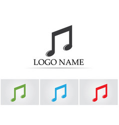 music note symbols logo and icons template vector image