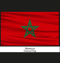 national flag of morocco vector image