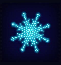 neon snowflake vector image