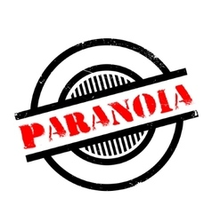 Paranoia rubber stamp vector