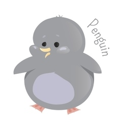 Penguin Marine animals Child fun icon vector