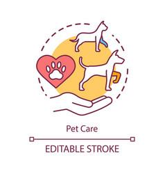 pet care concept icon domestic animals clinic vector image