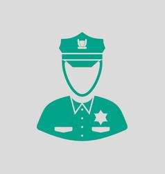 Policeman icon vector