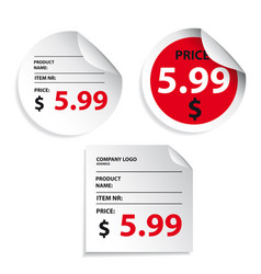 Price tag label sticker vector
