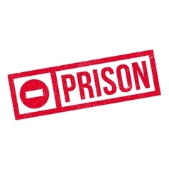 Prison rubber stamp vector image