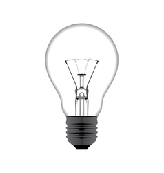 realistic of a light bulb isolated on white vector image