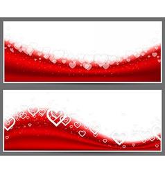 Red heart headers vector