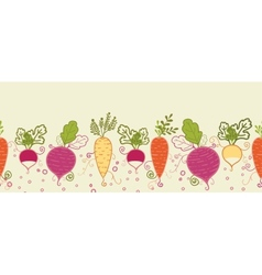 Root vegetables horizontal seamless pattern vector