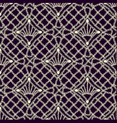 Seamless texture of lace fabric handwoven crochet vector