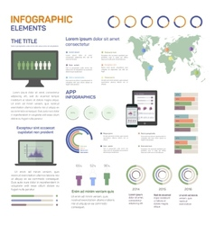 Set of infographics mobile vector image