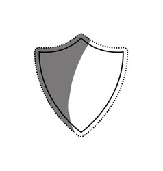 shield security abstract crest vector image