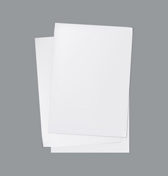 stack white paper sheets with shadows vector image