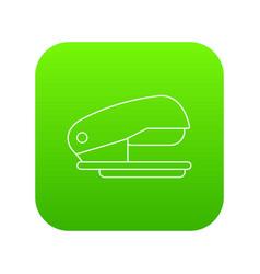 stapler icon green vector image