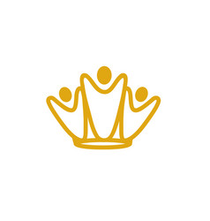 team king logo vector image