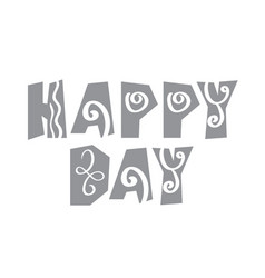text scandinavian happy day on a white background vector image