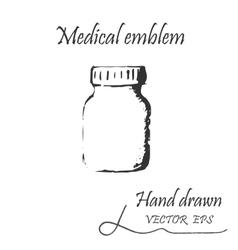 The medical jar icon vector