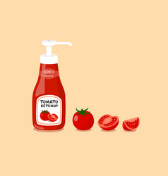 tomato sauce and tomatoes vector image