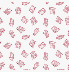 Trout fillet or steak linear pattern or vector