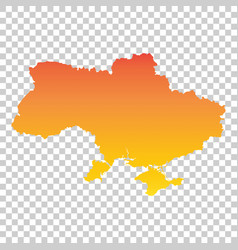 ukraine map colorful orange vector image