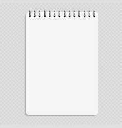 vertical notebook - clean notepad mockup isolated vector image