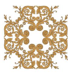 vintage baroque frame engraving scroll ornament vector image