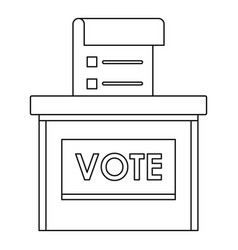 Vote election box icon outline style vector