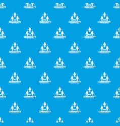 web community pattern seamless blue vector image