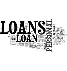 What are the various kinds of loans text word vector